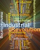 Industrial revolution background concept glowing — Stock Photo