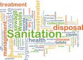 Sanitation background concept — Stock Photo