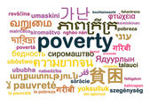 Poverty multilanguage wordcloud background concept — Stock Photo