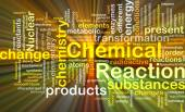 Chemical reaction background concept glowing — Stock Photo