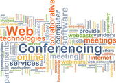 Web conferencing background concept — Stock Photo