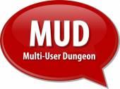 MUD acronym definition speech bubble illustration — Stock Photo