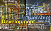 Leadership development background concept glowing — Стоковое фото