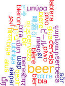 Beer multilanguage wordcloud background concept — Stock Photo
