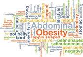 Abdominal obesity background concept — Stock Photo