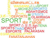 Sport multilanguage wordcloud background concept — Stock Photo