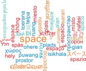Space multilanguage wordcloud background concept — Stock Photo