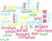 Wine multilanguage wordcloud background concept — Stock Photo