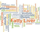 Fatty liver background concept — Stock Photo