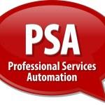 PSA acronym definition speech bubble illustration — Stock Photo #77702862