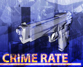 Crime rate abstract concept digital illustration — Stock Photo