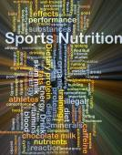 Sport nutrition background concept glowing — Stock Photo