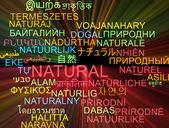 Natural multilanguage wordcloud background concept glowing — Stock Photo