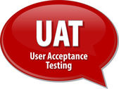 UAT acronym definition speech bubble illustration — Stock Photo