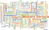 Military service background concept — Stock Photo