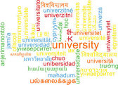University multilanguage wordcloud background concept — Stock Photo