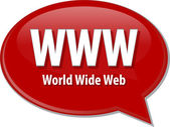 WWW acronym definition speech bubble illustration — Stock Photo