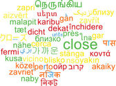 Close multilanguage wordcloud background concept — Stock Photo