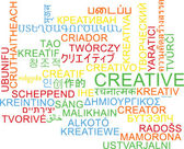 Creative multilanguage wordcloud background concept — Stock Photo