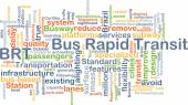 Bus rapid transit BRT background concept — Stock Photo