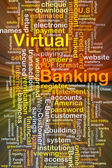 Virtual banking background concept glowing — Stock Photo