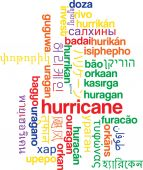 Hurricane multilanguage wordcloud background concept — Stock Photo