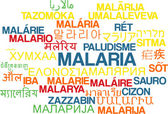 Malaria multilanguage wordcloud background concept — Stock Photo