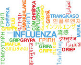 Influenza multilanguage wordcloud background concept — Stock Photo