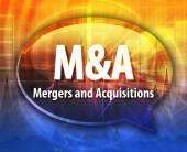M&A acronym word speech bubble illustration — Stock Photo