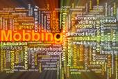 Mobbing background concept glowing — Stock Photo