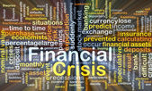 Financial crisis background concept glowing — Stock Photo