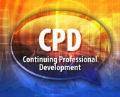CPD acronym word speech bubble illustration — Stock Photo