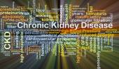 Chronic kidney disease CKD background concept glowing — Stock Photo