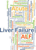 Acute liver failure ALF background concept — Stock Photo