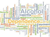 Alcohol dependence background concept — Stock Photo