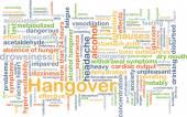 Hangover background concept — Stock Photo