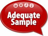 Adequate sample Business term speech bubble illustration — Stock Photo
