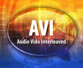 AVI acronym definition speech bubble illustration — Stock Photo