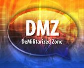 DMZ acronym definition speech bubble illustration — Stock Photo