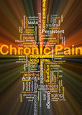 Chronic pain background concept glowing — Stock Photo