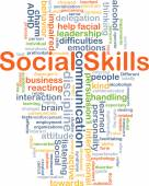 Social skills background concept — Stock Photo