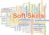 Soft skills background concept — Stock Photo