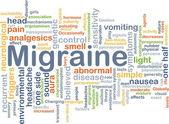 Migraine background concept — Stock Photo