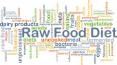 Raw food diet background concept — Stock Photo