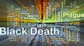 Black Death background concept glowing — Stock Photo