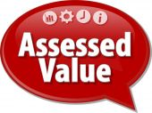 Assessed Value  Business term speech bubble illustration — Stock Photo