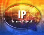 IP acronym definition speech bubble illustration — Stock Photo