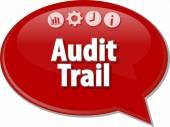 Audit Trail Finance Business term speech bubble illustration — Stock Photo