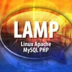 LAMP acronym definition speech bubble illustration — Stock Photo #80350746
