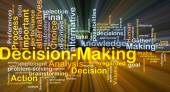 Decision-making background concept glowing — Stock Photo